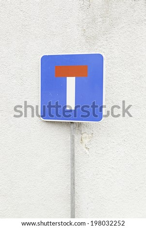 Signal end of road traffic signal detail, safety and information on the road, warning - stock photo