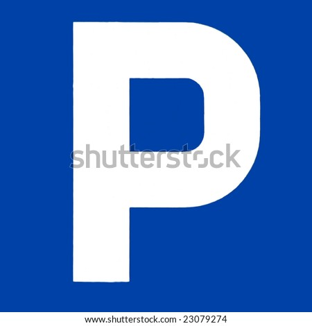 Signal for car parking place - stock photo