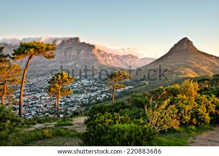 Signal Hill, Cape Town, South Africa - stock photo