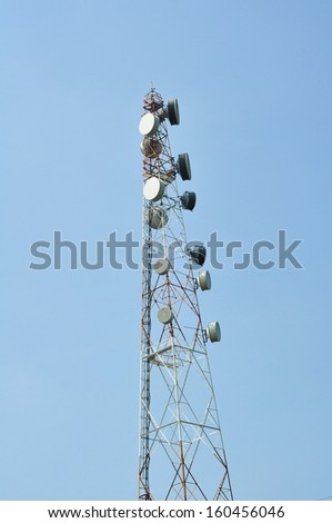 signal tower  - stock photo