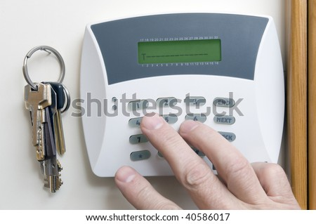 Signaling of domestic security - stock photo