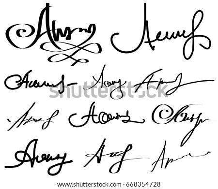 nice signatures with the letter n - 450×391