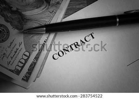 signature of the contract money