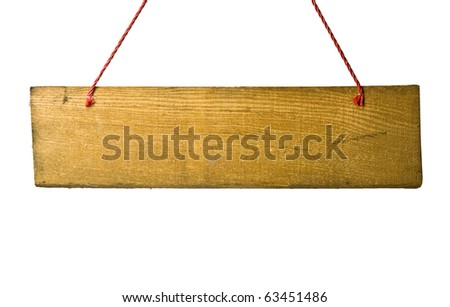 signboard isolated on a white background - stock photo