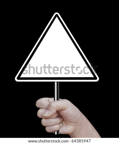 signboard on a white background - stock photo