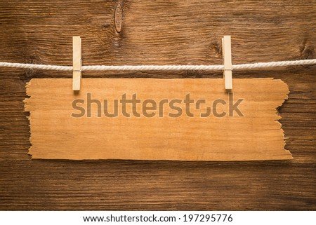 Signboard on wooden background   - stock photo
