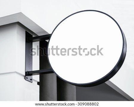 Signboard shop Mock up Circle shape