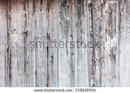 signed by the weather as old wood background
