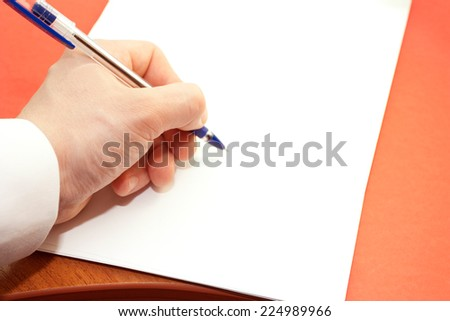 Signing of a clean sheet by the handle of the businessman