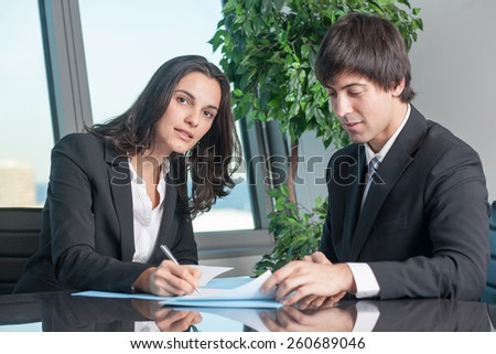 Signing of contract - stock photo