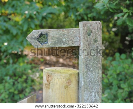 Signpost in the Quantock Hills in Somerset, England, UK  - stock photo