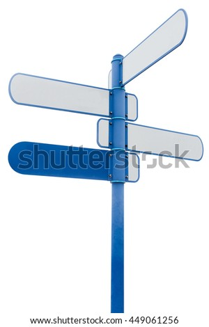 Signpost,isolated on white background.