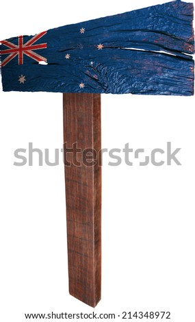 Signpost timber from Australia - stock photo