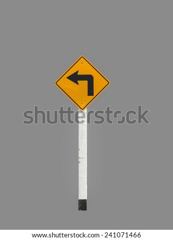 Signs harm curves isolated on gray background. - stock photo