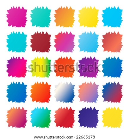 signs in different paint - stock photo