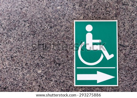 Signs of disabled persons - stock photo