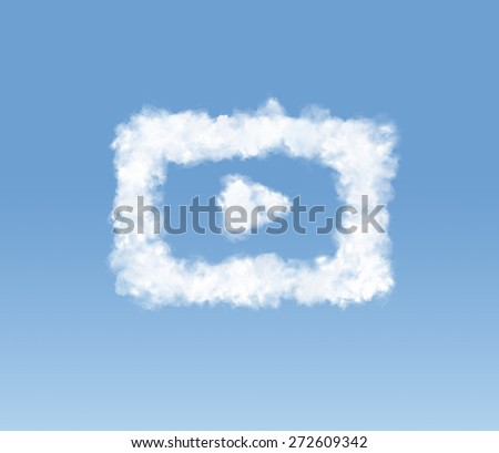 Signs on sky - stock photo