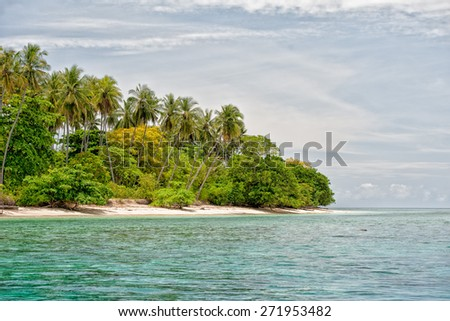 Siladen turquoise tropical paradise island in Indonesia - stock photo