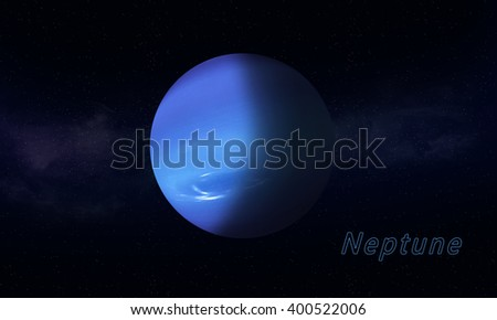 silent blue gas giant Neptune imaginary space background