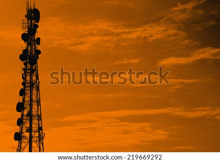 Silhouette communication antenna tower