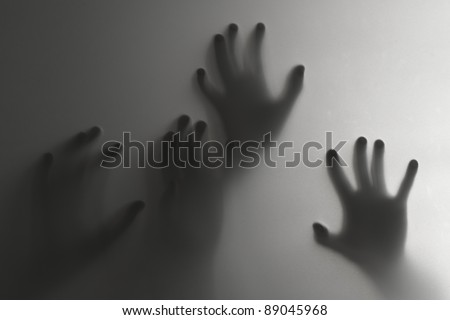 Silhouette of a hand, blur - stock photo
