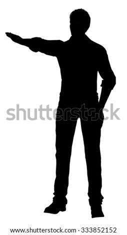 silhouette of a men