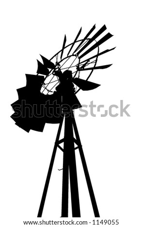 silhouette of a wind vane with clipping path