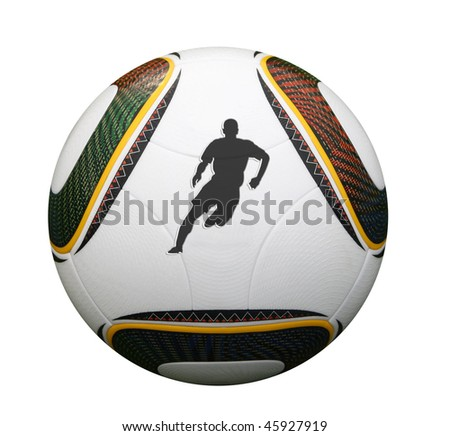 Silhouette of a world cup player in South Africa - stock photo