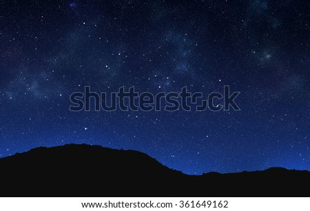 silhouette of ground on night sky background