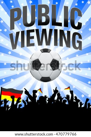 Silhouette of people enjoying german football game - Illustration