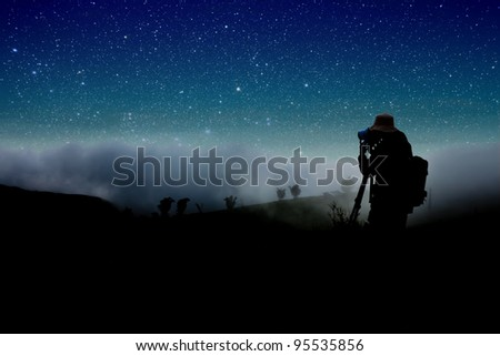 Shooting Star Silhouettes Shooting Night Stars