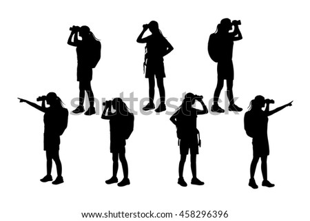 silhouette of woman achievement with white background