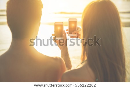 image Couple shooting cell phone shooting sex process very excit