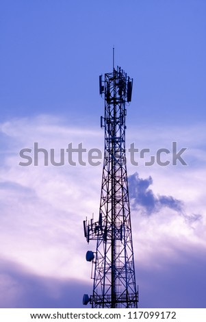 Silhouette Transmitter tower