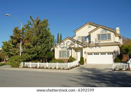 Silicon Valley home, Sunnyvale, California - stock photo