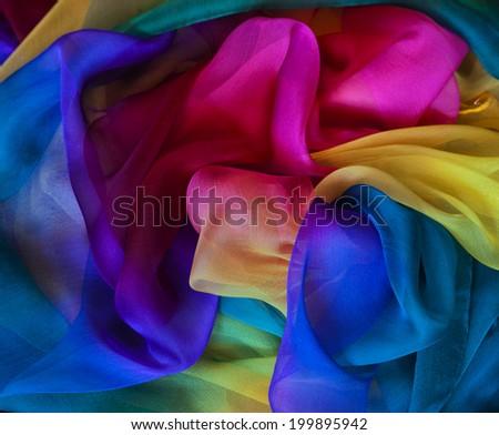 Silk background. - stock photo