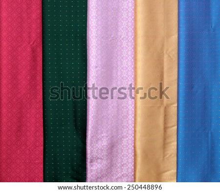 silk cloth fabrics - stock photo