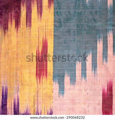 Silk more than 200 years old Colorful thai silk handcraft peruvian style surface close up More this  textiles peruvian stripe beautiful background tapestry detail pattern farabic fashionable. - stock photo