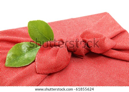 Silk wrapping cloth - stock photo