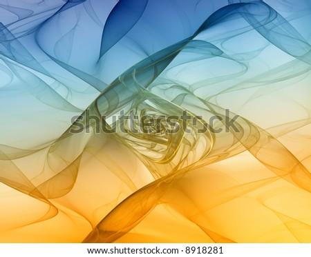 silky pastel background fractal - stock photo