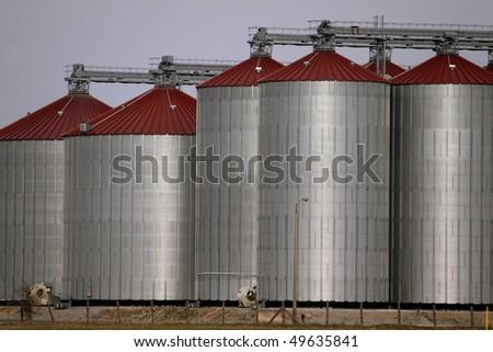 silos - stock photo