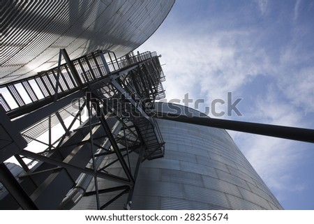 Silos/Grain bins - stock photo