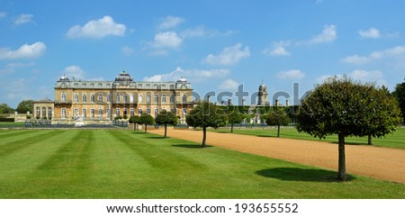 Silsoe, Bedfordshire, England - May 18, 2014: Wrest Park Silsoe Bedfordshire open to the public daily April to November lovely on a sunny Day.