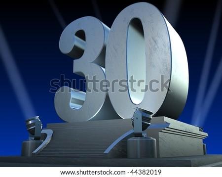 silver 30 - stock photo