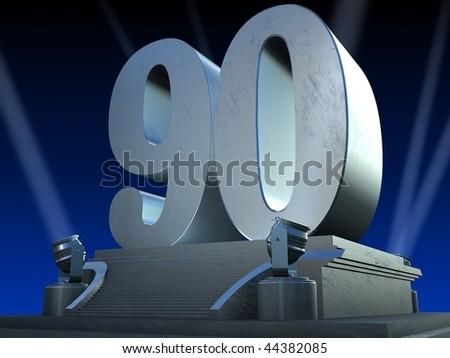 silver 90 - stock photo