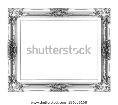 silver antique picture frames. Silver Antique Vintage Picture Frame. Isolated On White Background Frames N