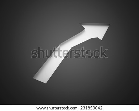Silver arrow business concept rendered - stock photo