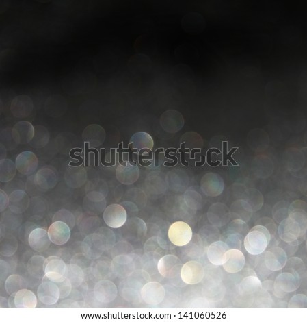 silver background. Elegant abstract background with bokeh defocused lights - stock photo