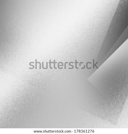 silver background metal texture decorative geometric shapes and beam of spot light  - stock photo