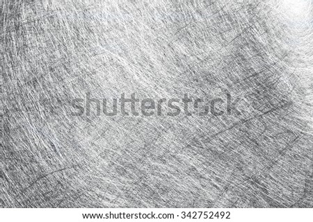silver background with a rough surface - stock photo